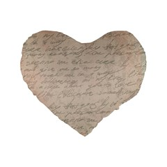 Letter Standard 16  Premium Flano Heart Shape Cushions by vintage2030