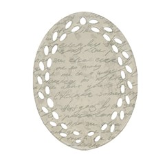 Handwritten Letter 2 Oval Filigree Ornament (two Sides) by vintage2030