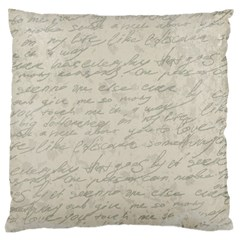 Handwritten Letter 2 Standard Flano Cushion Case (one Side) by vintage2030