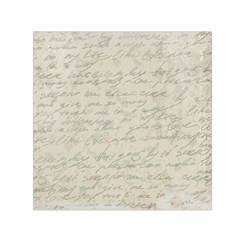 Handwritten Letter 2 Small Satin Scarf (square) by vintage2030