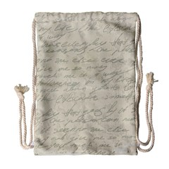 Handwritten Letter 2 Drawstring Bag (large) by vintage2030