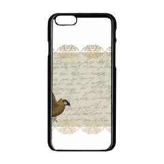 Tag Bird Apple Iphone 6/6s Black Enamel Case by vintage2030