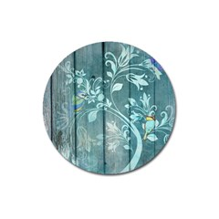 Green Tree Magnet 3  (round) by vintage2030