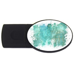 Splash Teal Usb Flash Drive Oval (4 Gb) by vintage2030