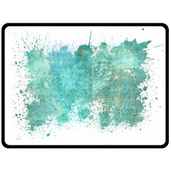 Splash Teal Fleece Blanket (large)  by vintage2030