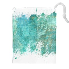 Splash Teal Drawstring Pouches (xxl) by vintage2030