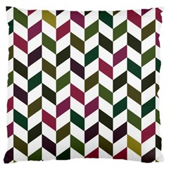 Zigzag Chevron Pattern Green Purple Large Cushion Case (two Sides) by vintage2030