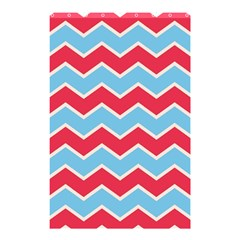 Zigzag Chevron Pattern Blue Red Shower Curtain 48  X 72  (small)  by vintage2030