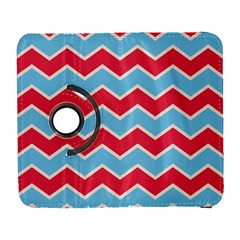 Zigzag Chevron Pattern Blue Red Galaxy S3 (flip/folio)