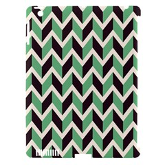 Zigzag Chevron Pattern Green Black Apple Ipad 3/4 Hardshell Case (compatible With Smart Cover) by vintage2030