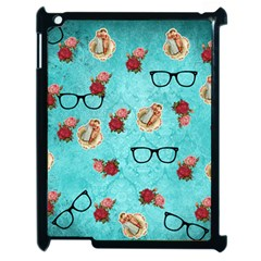 Vintage Glasses Apple Ipad 2 Case (black) by vintage2030