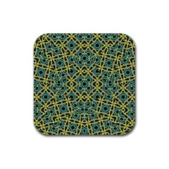 Arabesque Seamless Pattern Rubber Square Coaster (4 Pack)  by dflcprints
