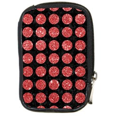 Circles1 Black Marble & Red Glitter (r) Compact Camera Cases by trendistuff