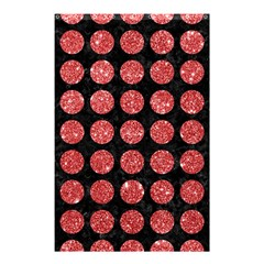 Circles1 Black Marble & Red Glitter (r) Shower Curtain 48  X 72  (small)  by trendistuff