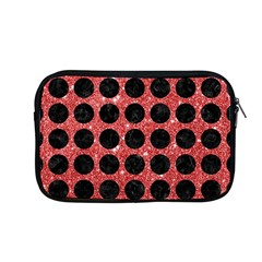 Circles1 Black Marble & Red Glitter Apple Macbook Pro 13  Zipper Case by trendistuff