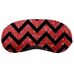 Chevron9 Black Marble & Red Glitter Sleeping Masks by trendistuff