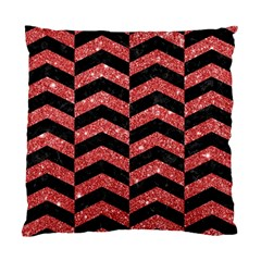 Chevron2 Black Marble & Red Glitter Standard Cushion Case (one Side) by trendistuff