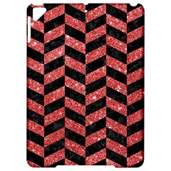 Chevron1 Black Marble & Red Glitter Apple Ipad Pro 9 7   Hardshell Case by trendistuff