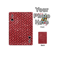 Brick2 Black Marble & Red Glitter Playing Cards 54 (mini)  by trendistuff