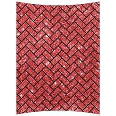 Brick2 Black Marble & Red Glitter Back Support Cushion by trendistuff