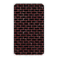 Brick1 Black Marble & Red Glitter (r) Memory Card Reader by trendistuff