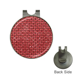 Brick1 Black Marble & Red Glitter Hat Clips With Golf Markers by trendistuff