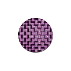 Woven1 Black Marble & Purple Glitter Golf Ball Marker (10 Pack) by trendistuff