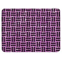 Woven1 Black Marble & Purple Glitter Samsung Galaxy Tab 7  P1000 Flip Case by trendistuff