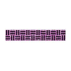 Woven1 Black Marble & Purple Glitter Flano Scarf (mini) by trendistuff