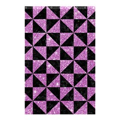 Triangle1 Black Marble & Purple Glitter Shower Curtain 48  X 72  (small)  by trendistuff