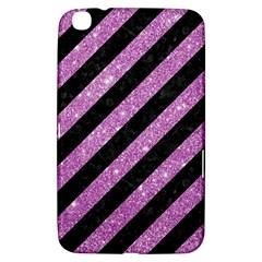 Stripes3 Black Marble & Purple Glitter (r) Samsung Galaxy Tab 3 (8 ) T3100 Hardshell Case  by trendistuff