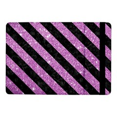 Stripes3 Black Marble & Purple Glitter Samsung Galaxy Tab Pro 10 1  Flip Case