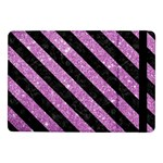 STRIPES3 BLACK MARBLE & PURPLE GLITTER Samsung Galaxy Tab Pro 10.1  Flip Case Front