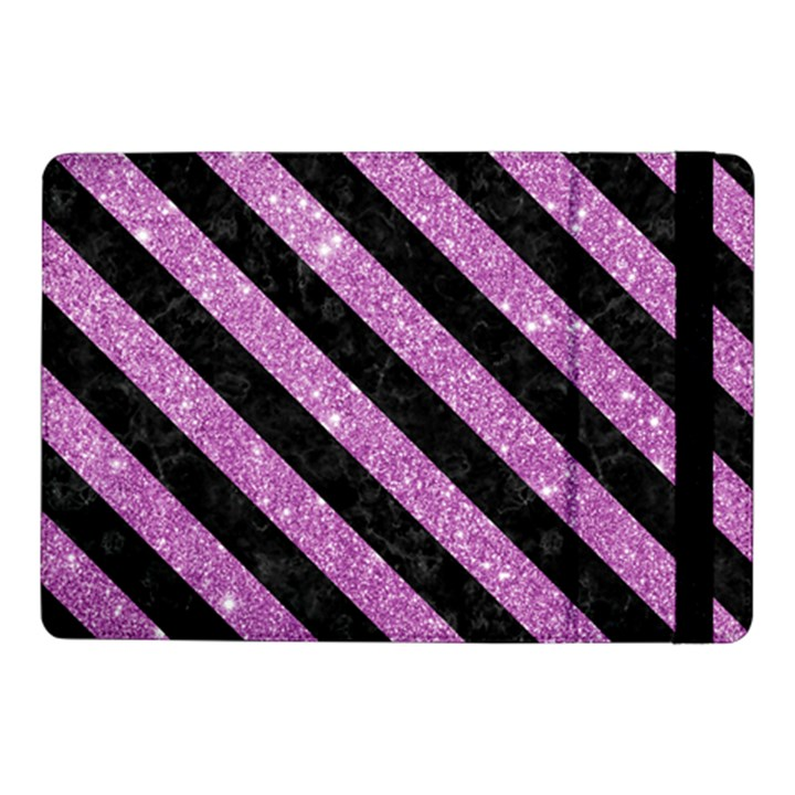 STRIPES3 BLACK MARBLE & PURPLE GLITTER Samsung Galaxy Tab Pro 10.1  Flip Case