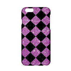 Square2 Black Marble & Purple Glitter Apple Iphone 6/6s Hardshell Case by trendistuff