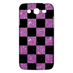 Square1 Black Marble & Purple Glitter Samsung Galaxy Mega 5 8 I9152 Hardshell Case  by trendistuff