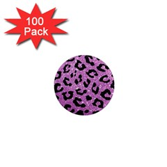 Skin5 Black Marble & Purple Glitter (r) 1  Mini Magnets (100 Pack)  by trendistuff