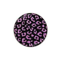 Skin5 Black Marble & Purple Glitter Hat Clip Ball Marker (10 Pack) by trendistuff
