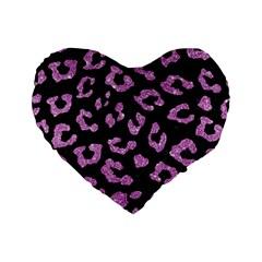 Skin5 Black Marble & Purple Glitter Standard 16  Premium Flano Heart Shape Cushions by trendistuff