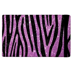 Skin4 Black Marble & Purple Glitter (r) Apple Ipad 2 Flip Case by trendistuff