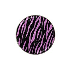Skin3 Black Marble & Purple Glitter (r) Hat Clip Ball Marker (10 Pack) by trendistuff