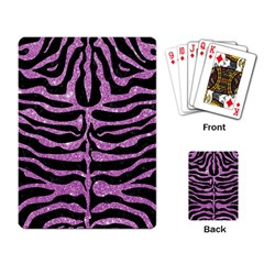 Skin2 Black Marble & Purple Glitter (r) Playing Card by trendistuff