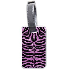Skin2 Black Marble & Purple Glitter (r) Luggage Tags (two Sides) by trendistuff