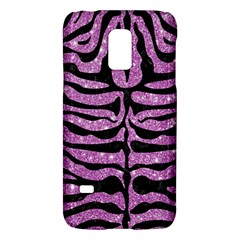 Skin2 Black Marble & Purple Glitter Galaxy S5 Mini by trendistuff