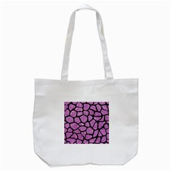 Skin1 Black Marble & Purple Glitter (r) Tote Bag (white) by trendistuff
