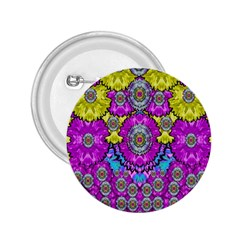 Fantasy Bloom In Spring Time Lively Colors 2 25  Buttons by pepitasart