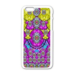 Fantasy Bloom In Spring Time Lively Colors Apple Iphone 6/6s White Enamel Case by pepitasart