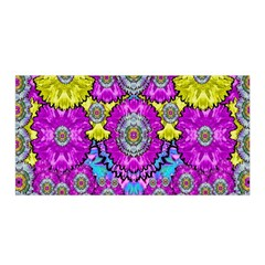 Fantasy Bloom In Spring Time Lively Colors Satin Wrap by pepitasart