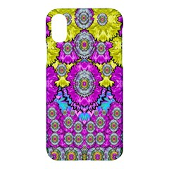 Fantasy Bloom In Spring Time Lively Colors Apple Iphone X Hardshell Case by pepitasart