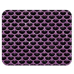 Scales3 Black Marble & Purple Glitter (r) Double Sided Flano Blanket (medium)  by trendistuff